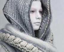 zimowy kaptur z szalem