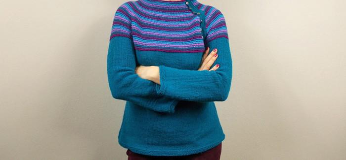 opisowo – Papua, raglanowy  sweter w etnicznych klimatach