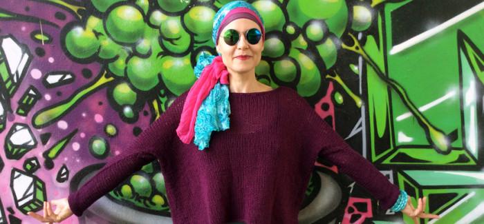 opisowo – szkicowa instrukcja wykonania swetra oversize