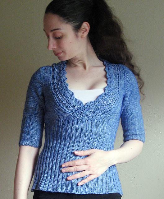 letnie topy na drutach bluzeczka z krótkimi rękawami na drutach