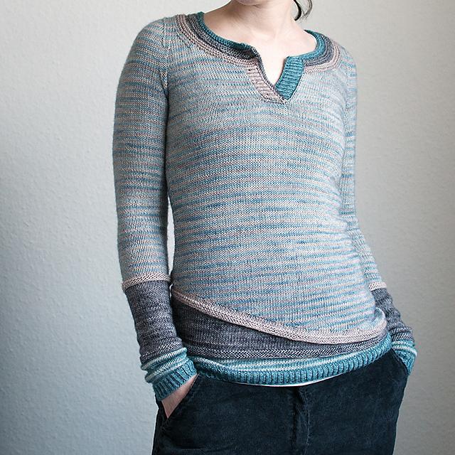 3 in 1 sweter na drutach
