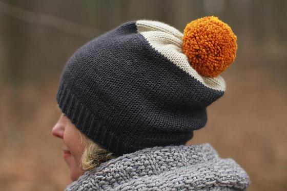 czapka z pomponem wzór