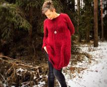 oversize po bandzie, czyli wielki sweter w mroźnych okolicznościach przyrody
