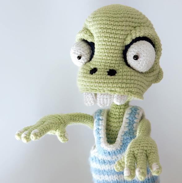 zombie_amigurimi robótki na drutach i szydełku
