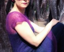 sukienka z moheru na drutach