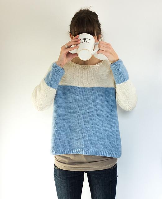 trendyw mdozie sweter_na_drutach_bloki_kolorow
