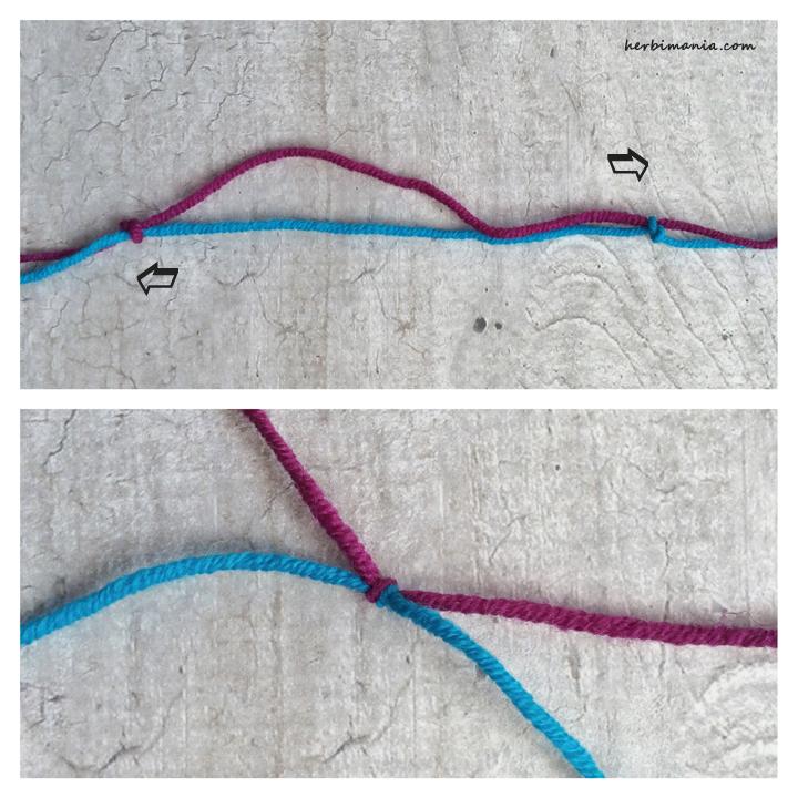 niewidoczne łączenie nitek w robótce