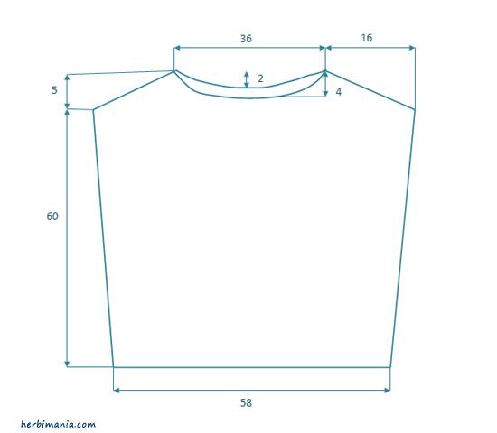 schemat sweterka piórkowego