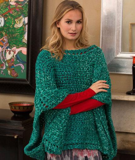 prosty sweter na drutach