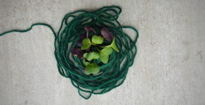 dzierganie na drutach a ogrodnictwo